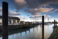 Портовый район Emsworth в Хемпшире на английском южном береге Стоковые Фотографии RF
