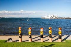 Портовый район Geelong в лете стоковые изображения rf