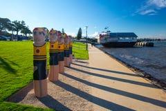 Портовый район Geelong в лете стоковые фотографии rf