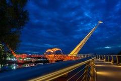 Портовый район Kuching моста Darul Ганы Стоковая Фотография RF