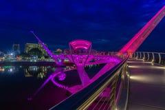 Портовый район Kuching моста Darul Ганы Стоковые Фотографии RF