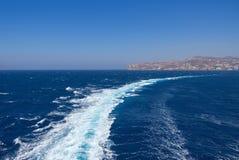 Портовый район Mykonos - остров Кикладов - Эгейское море - Греция стоковое фото