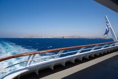 Портовый район Mykonos - остров Кикладов - Эгейское море - Греция стоковые изображения rf