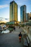 Портовый район Pedestrain Ванкувера Стоковое Фото