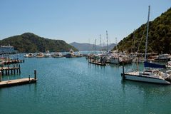 Портовый район Picton NZ Стоковое Фото