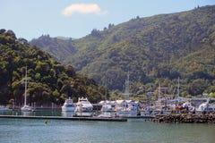Портовый район Picton NZ Стоковые Фотографии RF