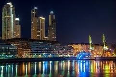 Портовый район Puerto Madero в Buenos Aires Стоковое Изображение