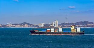 Портовый район Qingdao стоковое изображение