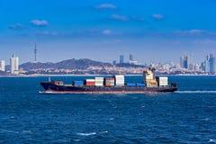 Портовый район Qingdao стоковая фотография