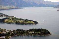 Портовый район Queenstown NZ Стоковые Фотографии RF