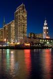 портовый район san ночи francisco Стоковая Фотография