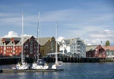 портовый район tromso Норвегии Стоковые Изображения