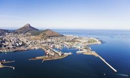 Портовый район V&A и гавань Кейптауна Стоковое Изображение RF