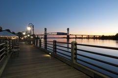 Портовый район Wilmington Стоковые Фотографии RF