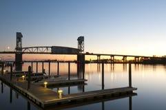 Портовый район Wilmington Стоковые Изображения RF