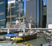 портовый район york города новый Стоковое фото RF