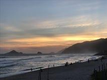 Портреты Бразилии прибой моря точного золота склонения добросердечный Стоковые Изображения