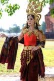 Портреты в концепции Apsara , Сказание женщины в ancie Стоковая Фотография RF
