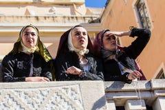 Портреты в Sardinian костюме стоковое изображение rf