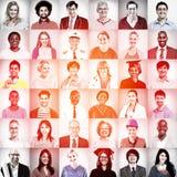 Портреты многонациональной смешанной концепции людей занятий Стоковые Изображения