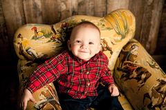 Портреты младенца 6 месяцев Стоковое Изображение