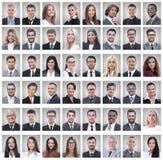 Портреты успешных молодых бизнесменов изолированных на белизне стоковые фото