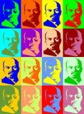 портреты lenin Стоковое Изображение RF
