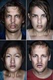 Портреты Multiracual Стоковое Фото