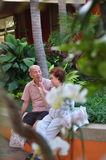 Портрет азиатских старшего человека и женщины стоковое фото rf