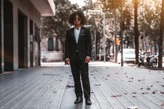 Портрет азиатского бизнесмена outdoors стоковое изображение rf