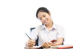 Портрет азиатского студента Стоковая Фотография