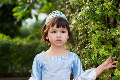 Портрет азиатской девушки в костюме принцессы Стоковое Изображение