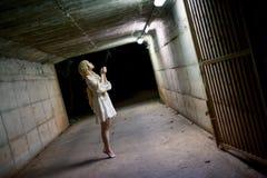 Портрет азиатской девушки хеллоуина Стоковые Изображения RF