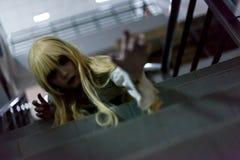 Портрет азиатской девушки хеллоуина Стоковые Изображения