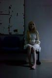 Портрет азиатской девушки хеллоуина Стоковое Изображение RF