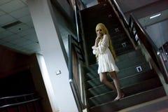 Портрет азиатской девушки хеллоуина Стоковое Фото