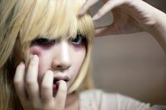 Портрет азиатской девушки хеллоуина Стоковое фото RF
