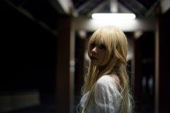 Портрет азиатской девушки хеллоуина Стоковые Фотографии RF
