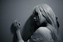 Портрет азиатской девушки хеллоуина Стоковая Фотография RF