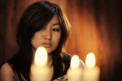 Портрет азиатской женщины Стоковые Изображения