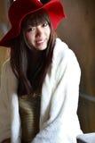 портрет азиатской красотки крытый Стоковые Изображения RF