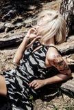 Портрет дамы блондинкы красоты Стоковое Изображение