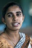 Портрет дамы Sri Lankan в Nuwara Eliya Стоковая Фотография RF