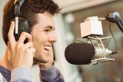 Портрет аудио студента университета записывая Стоковое Изображение RF