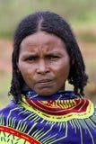 Портрет африканской женщины Стоковое Изображение