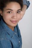 Портрет Афро-американской женщины Стоковые Изображения