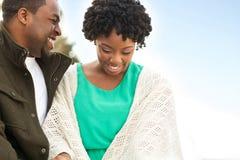 Портрет Афро-американской любящей пары Стоковые Изображения