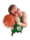 портрет баскетболиста шарика Стоковое Изображение