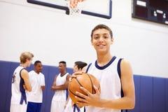 Портрет баскетболиста средней школы Стоковое фото RF