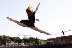 Портрет балерины на крыше Стоковая Фотография